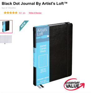 Artist Loft Dot Journal